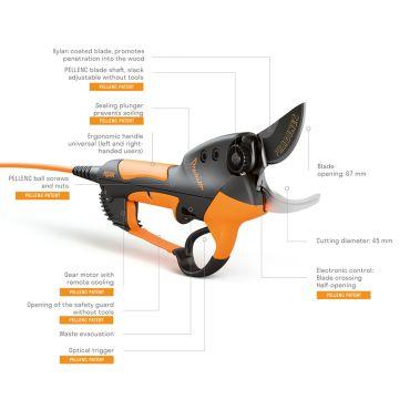 Foarfeca pentru pomi electrică pe baterie PELLENC Prunion 150 - 32-57108