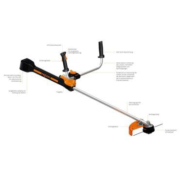 Motocoasa ( trimmer ) electrica pe baterie Pellenc Exelion 2000 - 53-57082